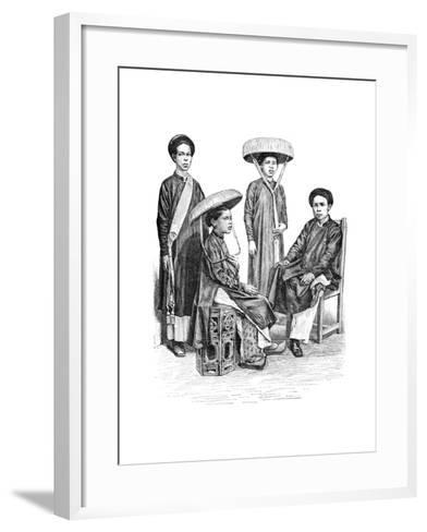 Annamese Chiefs and Women, Vietnam, 1895--Framed Art Print