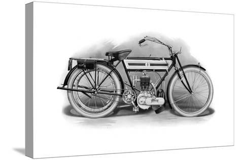 An Early Triumph Motorcycle, 1911-1912--Stretched Canvas Print