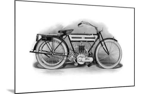 An Early Triumph Motorcycle, 1911-1912--Mounted Giclee Print