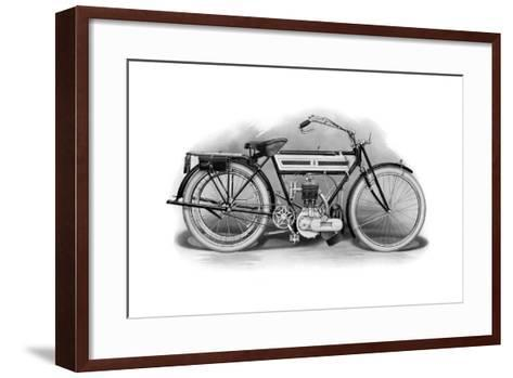 An Early Triumph Motorcycle, 1911-1912--Framed Art Print