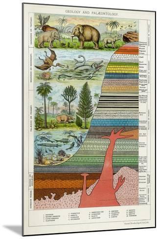 Geology and Palaeontology, C1880--Mounted Giclee Print