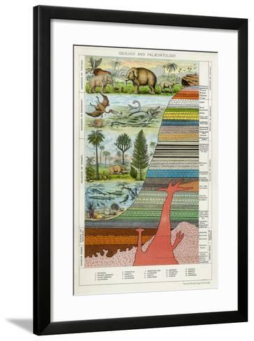 Geology and Palaeontology, C1880--Framed Art Print