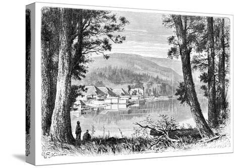 Lake Hakone, C1890--Stretched Canvas Print