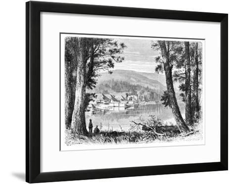 Lake Hakone, C1890--Framed Art Print