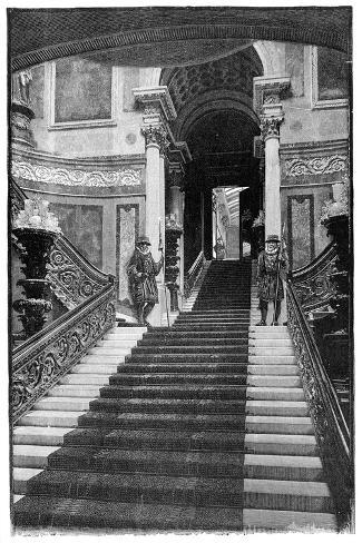 The Grand Staircase, Buckingham Palace, London, 1900--Stretched Canvas Print