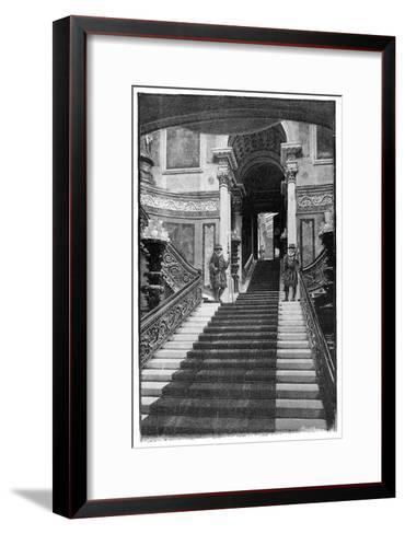 The Grand Staircase, Buckingham Palace, London, 1900--Framed Art Print