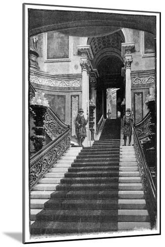 The Grand Staircase, Buckingham Palace, London, 1900--Mounted Giclee Print
