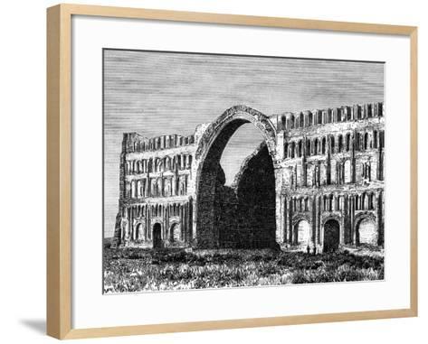 The Taq-I Kisra, Ctesiphon, Iraq, 19th Century--Framed Art Print