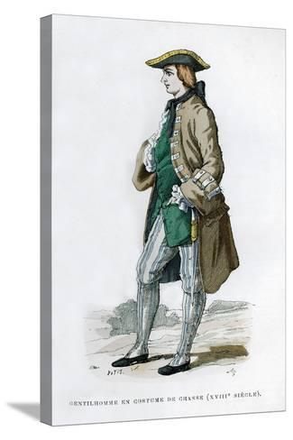 Gentleman in a Hunting Costume, 18th Century (1882-188)--Stretched Canvas Print
