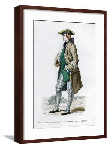 Gentleman in a Hunting Costume, 18th Century (1882-188)--Framed Art Print