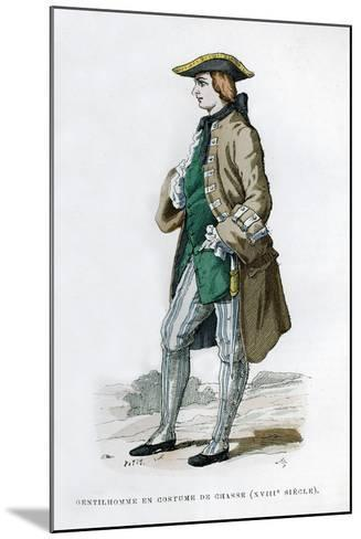 Gentleman in a Hunting Costume, 18th Century (1882-188)--Mounted Giclee Print