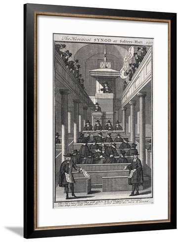 The Heretical Synod at Salters' Hall Chapel, London, 1720--Framed Art Print