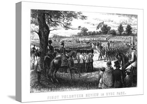 First Volunteer Review in Hyde Park, London, 1899--Stretched Canvas Print