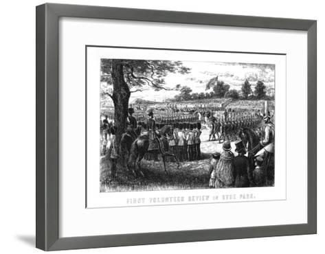 First Volunteer Review in Hyde Park, London, 1899--Framed Art Print