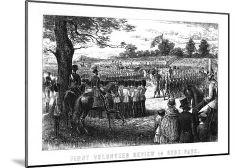 First Volunteer Review in Hyde Park, London, 1899--Mounted Giclee Print