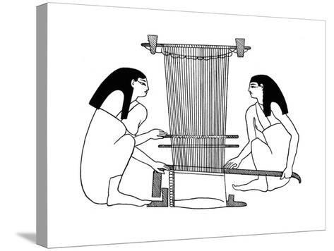 Egyptian Weavers, C3000 BC--Stretched Canvas Print