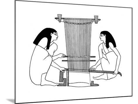 Egyptian Weavers, C3000 BC--Mounted Giclee Print