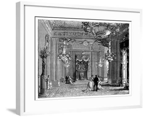 The Throne Room, Buckingham Palace, 1900--Framed Art Print