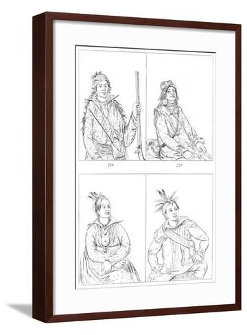 Creeks and Choctaws, 1841-Myers and Co-Framed Art Print