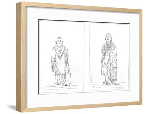Sac and Fox Indians, 1841-Myers and Co-Framed Art Print