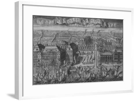 Triumphal Bringing of Swedish Ships into St Petersburg after the Victory Off the Hanko Peninsula-Alexei Fyodorovich Zubov-Framed Art Print