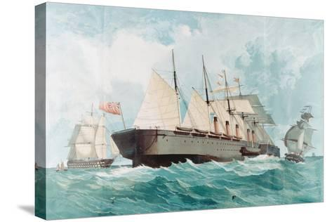 SS Great Eastern, IK Brunel's Great Steam Ship, 1858--Stretched Canvas Print