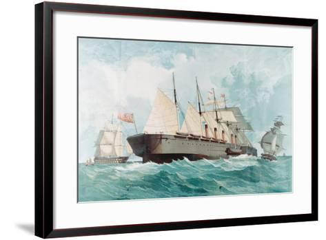 SS Great Eastern, IK Brunel's Great Steam Ship, 1858--Framed Art Print