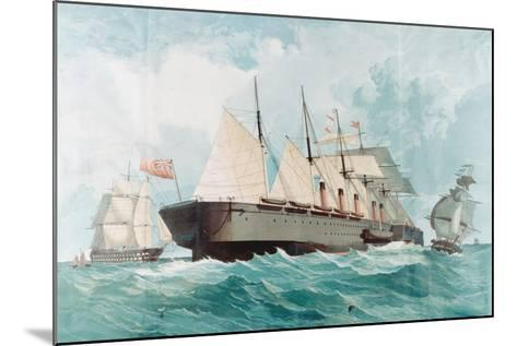 SS Great Eastern, IK Brunel's Great Steam Ship, 1858--Mounted Giclee Print