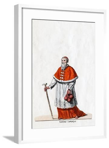 Cardinal Campeius, Costume Design for Shakespeare's Play, Henry VIII, 19th Century--Framed Art Print