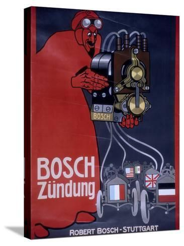 Poster Advertising Bosch Ignition Systems--Stretched Canvas Print