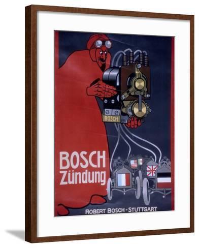 Poster Advertising Bosch Ignition Systems--Framed Art Print