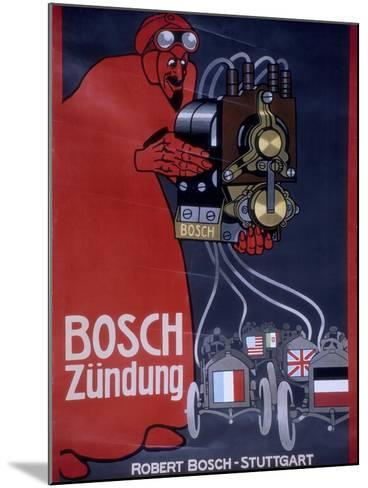 Poster Advertising Bosch Ignition Systems--Mounted Giclee Print