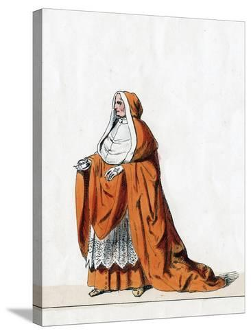 Cardinal Wolsey, Costume Design for Shakespeare's Play, Henry VIII, 19th Century--Stretched Canvas Print