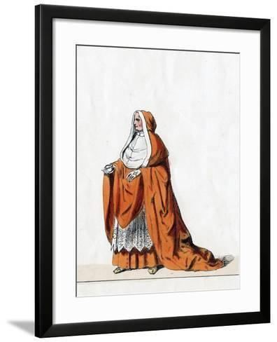 Cardinal Wolsey, Costume Design for Shakespeare's Play, Henry VIII, 19th Century--Framed Art Print
