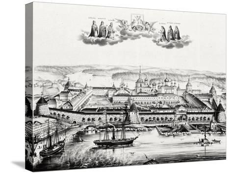 The Solovetsky Transfiguration Monastery on the Solovetsky Islands, 1879--Stretched Canvas Print