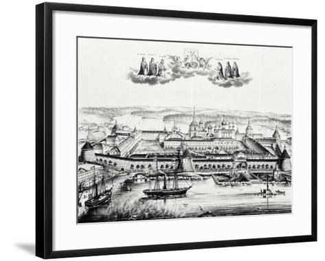 The Solovetsky Transfiguration Monastery on the Solovetsky Islands, 1879--Framed Art Print