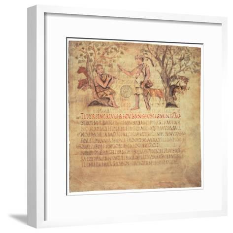 Tityrus Playing the Pipes, 5th Century--Framed Art Print