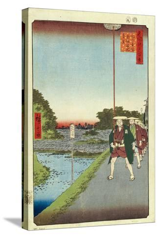 Kinokuni Hill and Distant View of Akasaka and the Tameike Pond, 1856-1858-Utagawa Hiroshige-Stretched Canvas Print