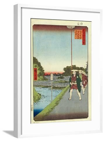 Kinokuni Hill and Distant View of Akasaka and the Tameike Pond, 1856-1858-Utagawa Hiroshige-Framed Art Print