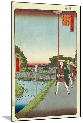 Kinokuni Hill and Distant View of Akasaka and the Tameike Pond, 1856-1858-Utagawa Hiroshige-Mounted Giclee Print