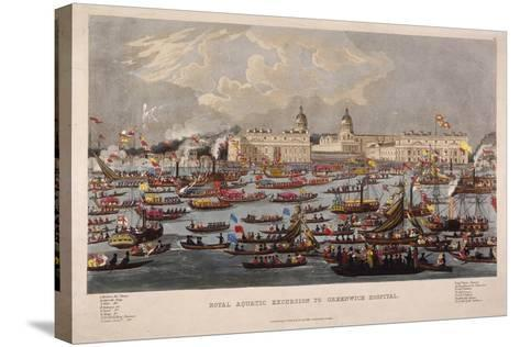 Royal Aquatic Excursion to Greenwich Hospital, 1838--Stretched Canvas Print