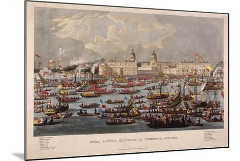 Royal Aquatic Excursion to Greenwich Hospital, 1838--Mounted Giclee Print