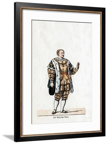 Sir Nicholas Vaux, Costume Design for Shakespeare's Play, Henry VIII, 19th Century--Framed Art Print
