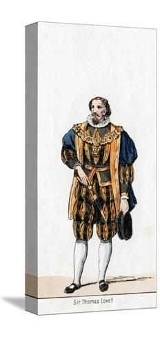 Sir Thomas Lovell, Costume Design for Shakespeare's Play, Henry VIII, 19th Century--Stretched Canvas Print