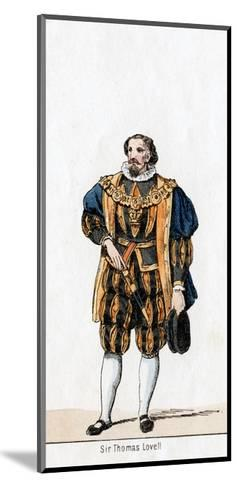 Sir Thomas Lovell, Costume Design for Shakespeare's Play, Henry VIII, 19th Century--Mounted Giclee Print