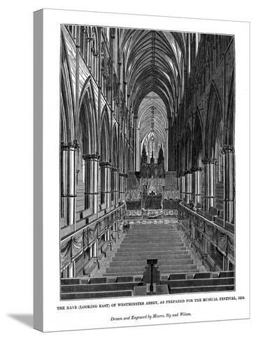 The Nave (Looking Eas) of Westminster Abbey- Messrs Sly and Wilson-Stretched Canvas Print