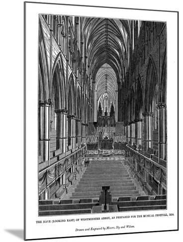 The Nave (Looking Eas) of Westminster Abbey- Messrs Sly and Wilson-Mounted Giclee Print