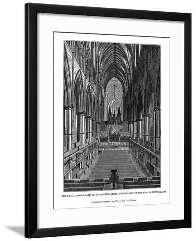 The Nave (Looking Eas) of Westminster Abbey- Messrs Sly and Wilson-Framed Art Print