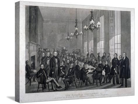 Interior View of the British Coffee House on Cockspur Street, Westminster, London, 1839--Stretched Canvas Print