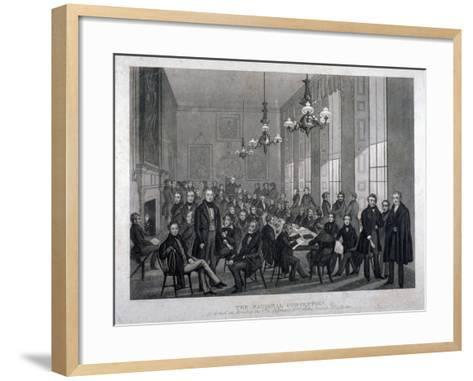 Interior View of the British Coffee House on Cockspur Street, Westminster, London, 1839--Framed Art Print